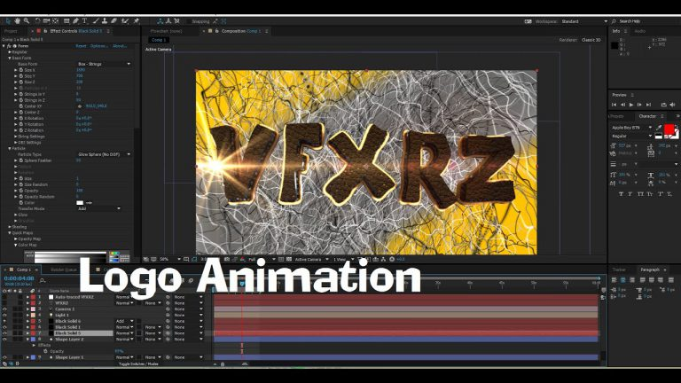 Tutorial Create Logo Animation in After Effects   Element 3D , Trapcode Form ,Optical Flairs