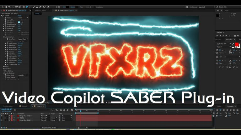 Tutorial Video Copilot SABER Plug-in 2016   Adobe After Effects