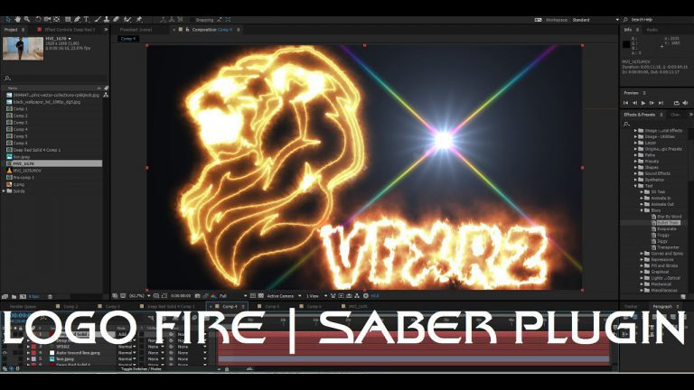 Tutorial Convert logo and Vector to Fire with Video Copilot SABER   Adobe After Effects CC 2015