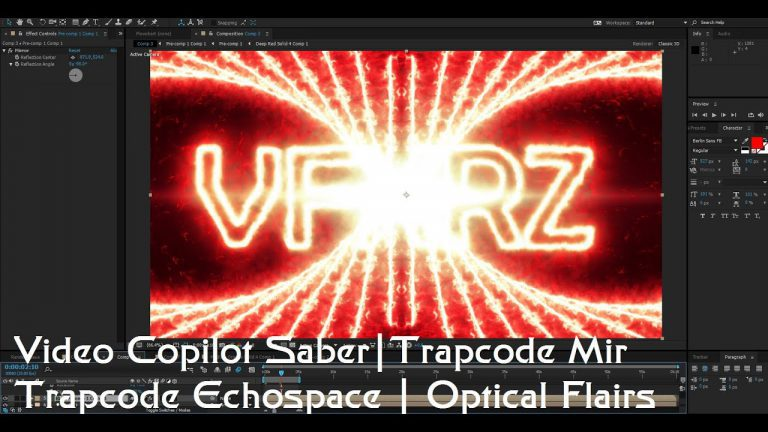 Tutorial VideoCopilot SABER , Optical Flairs with Trapcode Echocape and Mir
