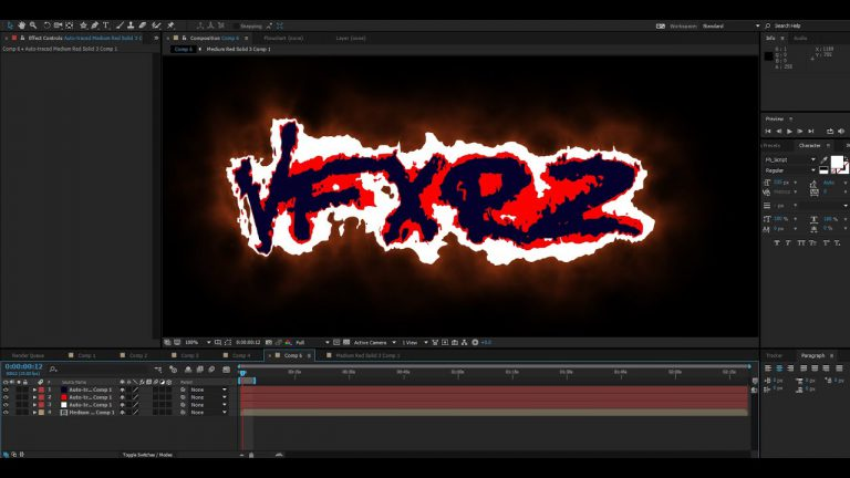 Tutorial 2D Fire Animation with VideoCopilot Saber Plug-in | After Effects