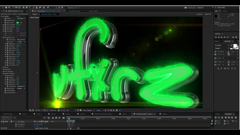 Tutorial logo animation with VideoCopilot Saber and Element 3D | After Effects