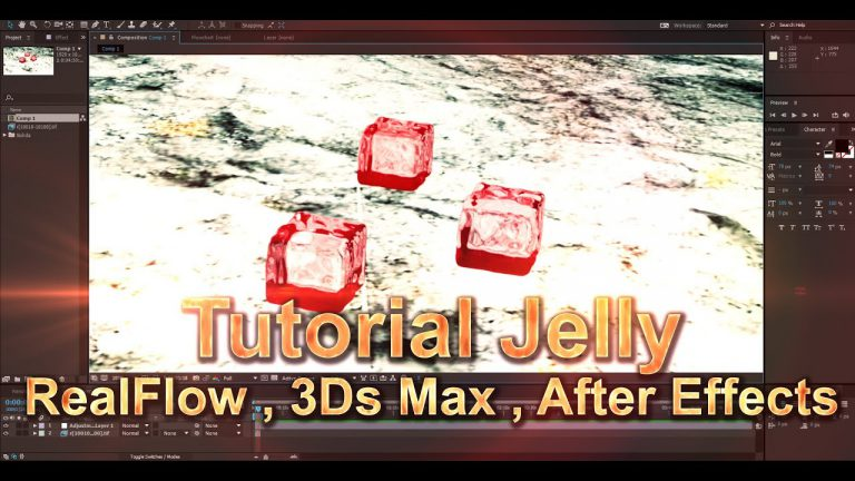 Tutorial Create Jelly | RealFlow + 3Ds Max + After Effects | For Beginners