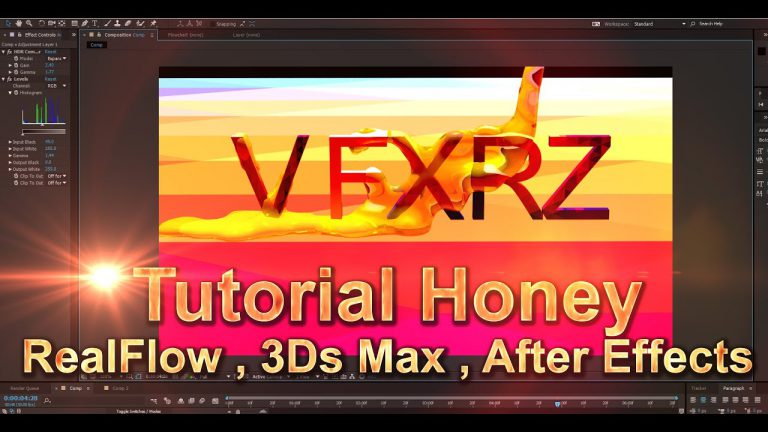 Tutorial Create Honey | RealFlow + 3Ds Max + After Effects | For Beginners