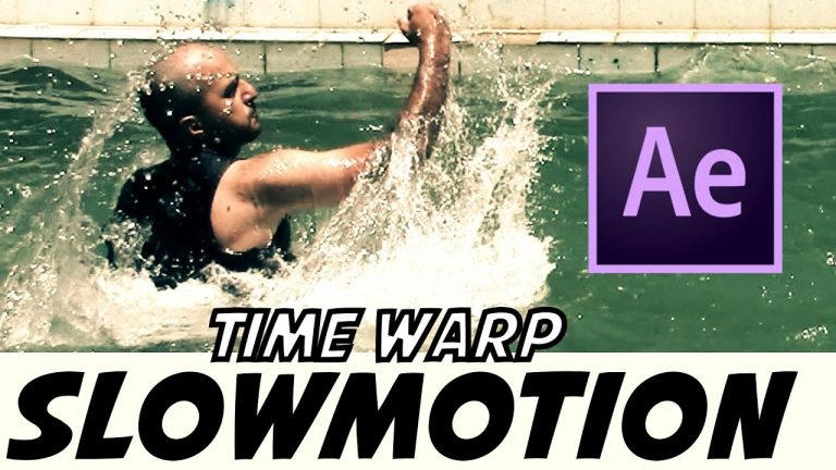 Slowmotion , Time Warp Tutorial | After Effects