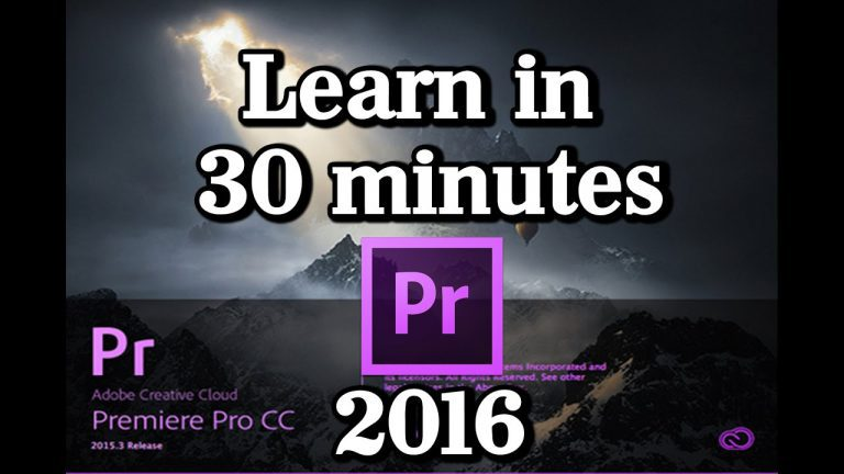 Quick Start Premiere CC 2016 V3 Tutorial |Beginners|Editing,Animation,Text