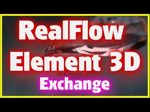 Import object Sequence from RealFlow to Element 3D V 2.2 Tutorial Adobe After Effects Next Limit RealFlow VideoCopilot Element 3D v 2.2