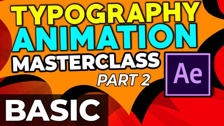 Basic Typography Animation | After Effects | Part 2 of 14 | Master Class