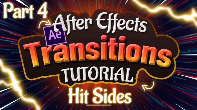 Hit Sides Transitions Tutorial in Adobe After Effects Part 4 of 6