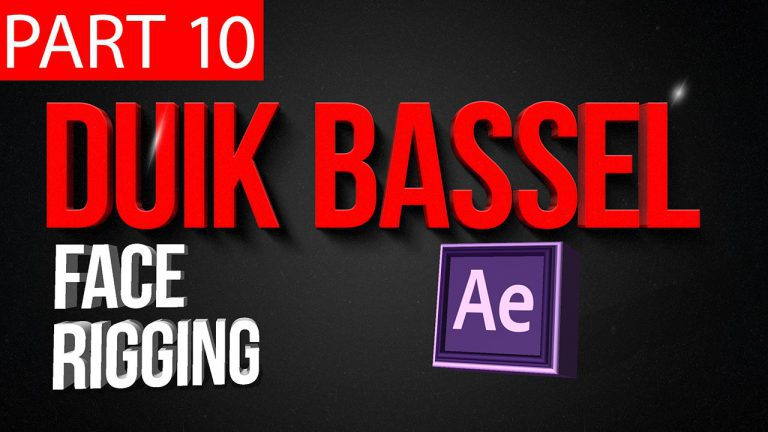 Duik Bassel Tutorial Part 10 of 30 |Face Rigging,Blinking,Lips Syncing|After Effects,Motion Graphics