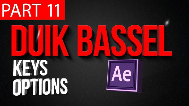 Duik Bassel Tutorial Part 11 of 30 | Keys options,After Effects,Motion Graphics,2D Animation,Rigging