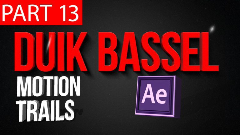 Duik Bassel Tutorial Part 13 of 30 Motion Trails|After Effects,Motion Graphics,2D Animation,Rigging