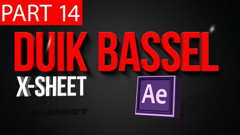 Duik Bassel Tutorial Part 14 of 30 X Sheet |After Effects,Motion Graphics,2D Animation,Rigging