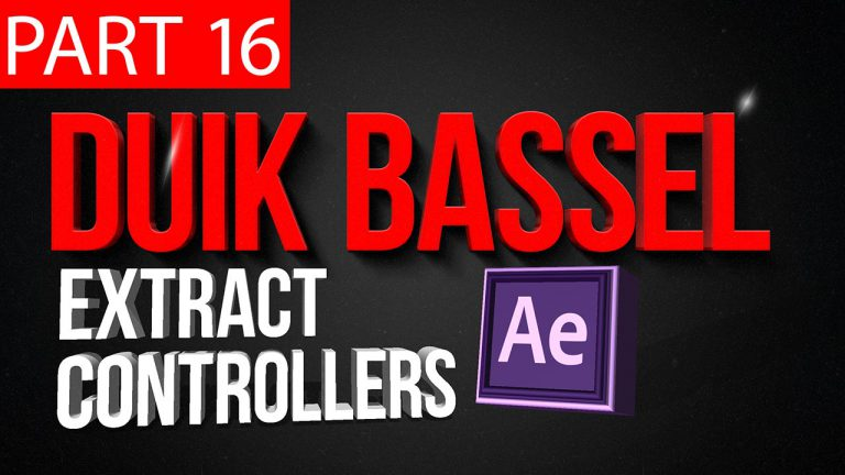 Duik Bassel Tutorial Part 16 of 30 Extract Controllers | After Effects,Motion Graphics,2D Animation