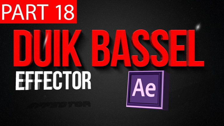 Duik Bassel Tutorial Part 18 of 30 Effector|After Effects,Motion Graphics,2D Animation,Rigging
