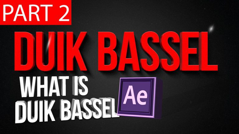 Duik Bassel Tutorial Part 2 of 30 | what is duik bassel?,After Effects,Motion Graphics,Rigging