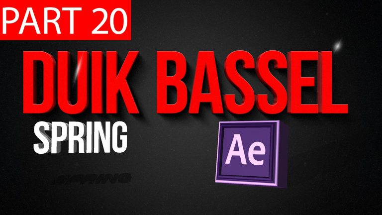 Duik Bassel Tutorial Part 20 of 30 Spring | After Effects,Motion Graphics,2D Animation,Rigging