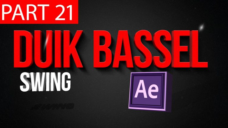 Duik Bassel Tutorial Part 21 of 30 Swing | After Effects,Motion Graphics,2D Animation,Rigging