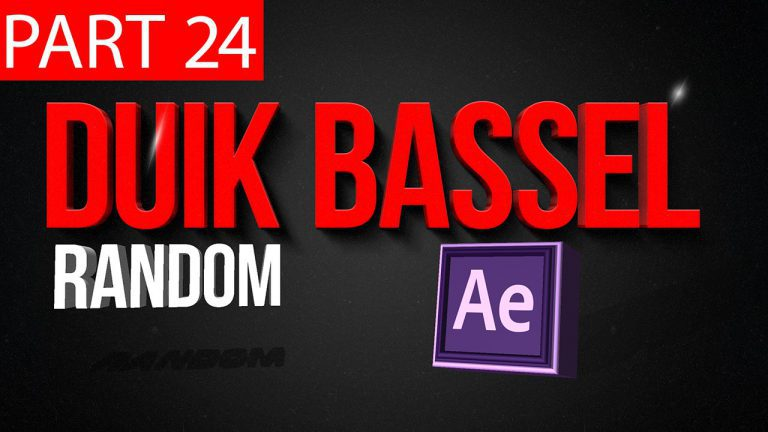 Duik Bassel Tutorial Part 24 of 30 Random|After Effects,Motion Graphics,2D Animation,Rigging