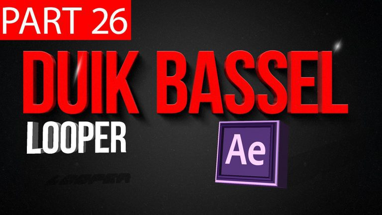 Duik Bassel Tutorial Part 26 of 30 Looper |After Effects,Motion Graphics,2D Animation,Rigging