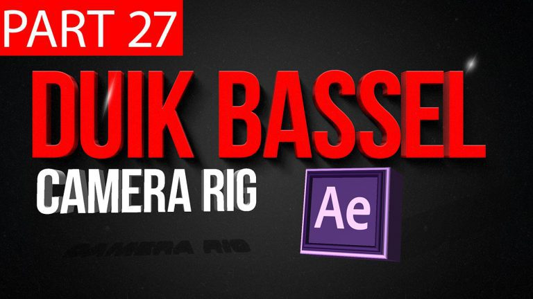 Duik Bassel Tutorial Part 27 of 30 Camera Rig|After Effects,Motion Graphics,2D Animation,Rigging