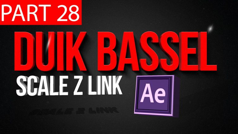 Duik Bassel Tutorial Part 28 of 30 Scale Z Link |After Effects,Motion Graphics,2D Animation,Rigging