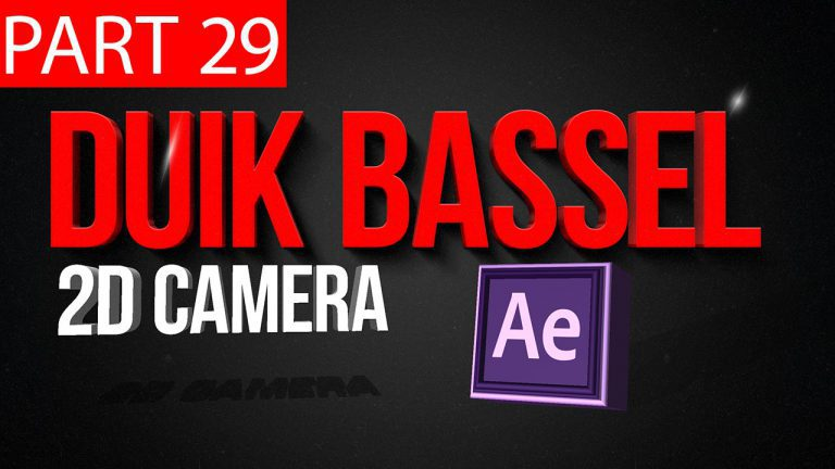 Duik Bassel Tutorial Part 29 of 30 2D Camera|After Effects,Motion Graphics,2D Animation,Rigging