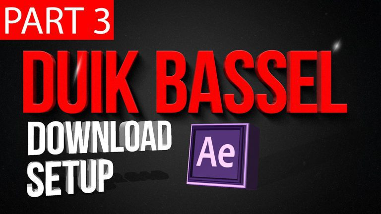 Duik Bassel Tutorial Part 3 of 30 | Download and setup Duik Bassel ,After Effects,Motion Graphics