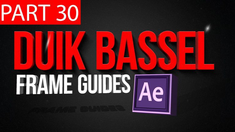 Duik Bassel Tutorial Part 30 of 30 Frame Guides|After Effects,Motion Graphics,2D Animation,Rigging