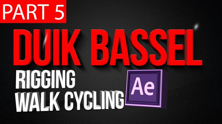Duik Bassel Tutorial Part 5 of 30 |Rigging and walk cycling,After Effects,Motion Graphics