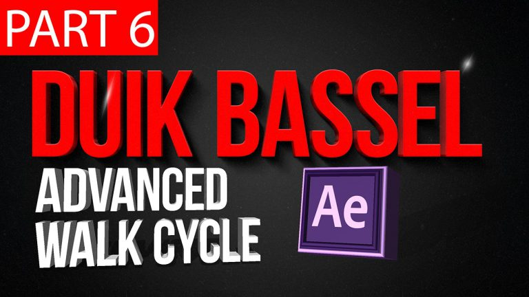 Duik Bassel Tutorial Part 6 of 30 |Advanced walk cycle,After Effects,Motion Graphics,2D Animation