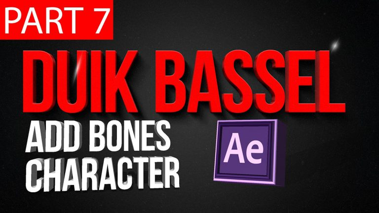 Duik Bassel Tutorial Part 7 of 30 | Add Bones Character Rigging | After Effects,Motion Graphics