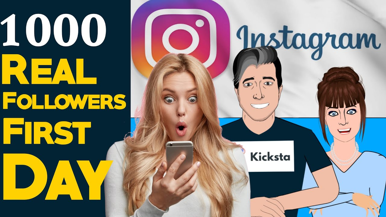 How to get 1000 real followers per day?